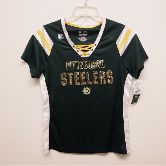new style 3b581 d7371 Pittsburg Steelers NFL Women's Sequin Lace Jersey NWT